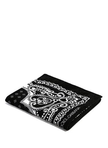 Dolce&Gabbana Plaj Havlusu Siyah